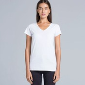 Womens Bevel V-Neck Tee