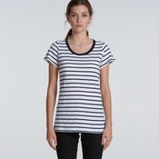 Womens Loop Stripe Tee