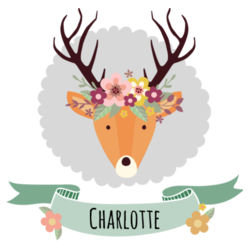 Stag with Flower Crown - Santa Sack Design