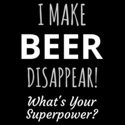 I Make Beer Disappear - Mens Block T shirt Design