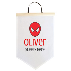 Spiderman Sleeps Here - Large Banner (A3) - Large Banner (A3)
