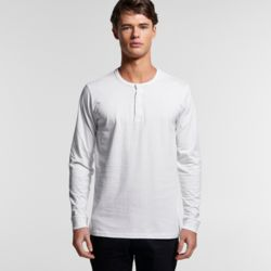Mens Henley Long Sleeved Tee Thumbnail