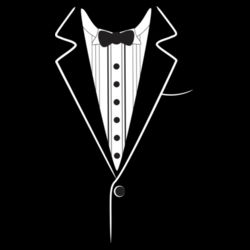 Tuxedo Tee - Mens Block T shirt Design