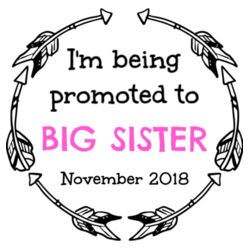I'm Being Promoted to Big Sister/Brother - Kids Wee Tee Design