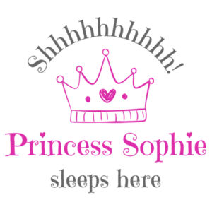 Personalised Princess - Cushion cover Design