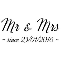 Mr & Mrs Anniversary - Cushion cover Design