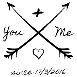 You And Me Since X/X/XXXX - A4 Print Design