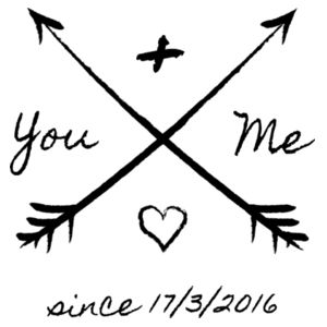 You And Me Since X/X/XXXX - Cushion cover Design