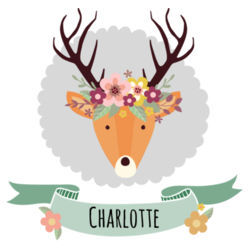 Stag with Flower Crown - A4 Print Design