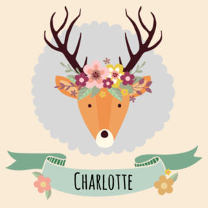 Stag with Flower Crown - Tote Bag Design