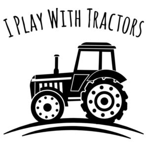I Play With Tractors - Promo White Mini-Me One-Piece Design