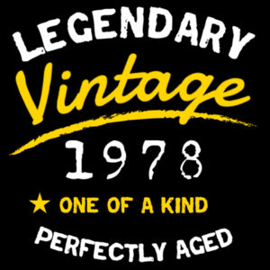 Legendary Vintage - Mens Block T shirt Design