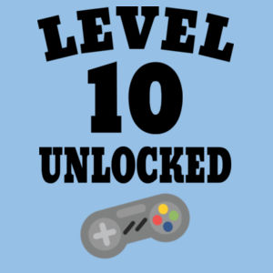 Level 10 Unlocked - Kids Youth T shirt Design