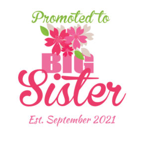 Promoted to Big Sister - Kids Wee Tee Design