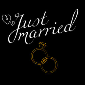 Just Married Anniversary - Womens Maple Tee Design