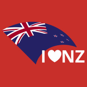 I Love NZ - Womens Maple Tee Design