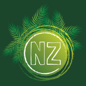 NZ Fern Kiwiana - Womens Maple Tee Design