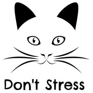 Don't Stress Meowt - Cat Customised T Shirt - Womens Maple Tee Design