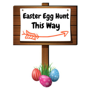 Personalised Custom Easter Egg Hunting Sign - Easter Egg Sign - Large Wall Banner (A3) Design