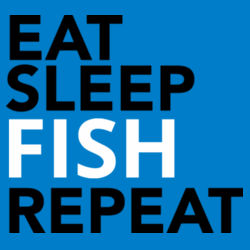 Eat Sleep Fish Repeat - Mens Staple T shirt Design