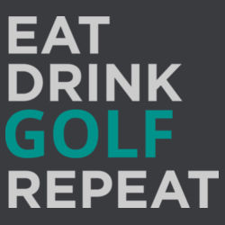 Eat Sleep Golf Repeat - Mens Staple T shirt Design