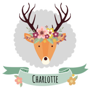Stag with Flower Crown - Large Banner (A3) Design