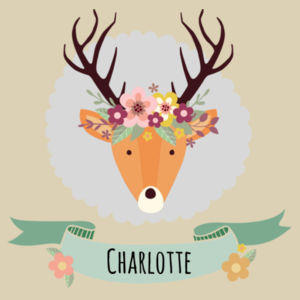 Stag with Flower Crown - Christmas Eve Bag Design