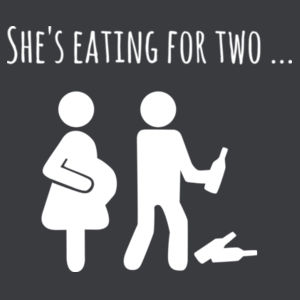 She's Eating For Two - Pregnancy Announcement - Mens Staple T shirt Design