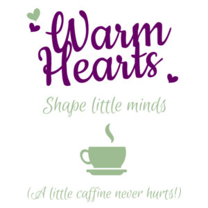 Warm Hearts Shape Little Minds - Large Wall Banner (A3) Design