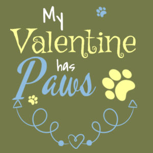 My Valentine Has Paws - Mens Staple T shirt Design