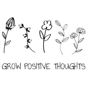 Grow Positive Thoughts -  Medium Wall Banner (A4) Design