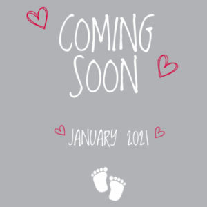 Coming Soon - Baby Announcement  - Mini-Me One-Piece Design