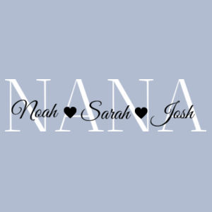 Nana - Personalised Grandchildren - Womens Mali Tee Design