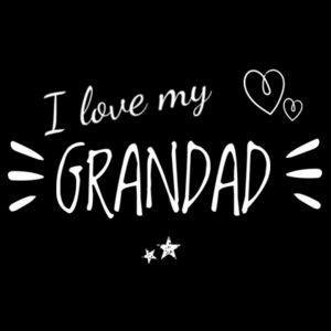 I Love My Grandad - Kids Youth T shirt Design