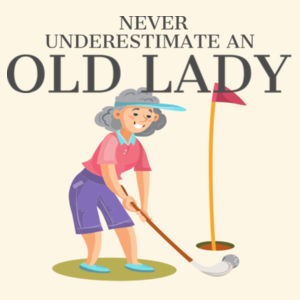 Never Underestimate An Old Lady That Loves Golf And Born In December - Parcel Tote Design