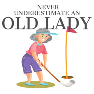 Never Underestimate An Old Lady That Loves Golf And Born In December - Womens Maple Tee Design