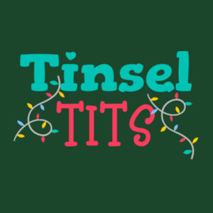 Christmas Tinsel - Womens Maple Tee Design