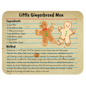 Gingerbread Recipe  - Placemat  Design