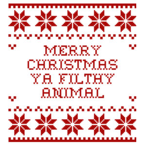 Merry Christmas ya filthy animal - Womens Basic Tee Design
