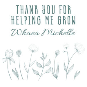 Thank you for helping me grow - Cushion cover Design