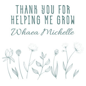 Thank you for helping me grow - Tote Bag Design