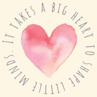 It takes a big heart to shape little minds - Parcel Tote Design