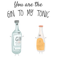 You are the Gin to my Tonic - Mens Staple T shirt Design