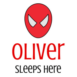 Spiderman Sleeps Here - Large Banner (A3) - Large Banner (A3) Design