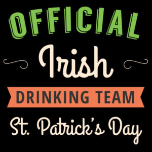 Official Irish Drinking Team - St Patrick's Day T shirt Design