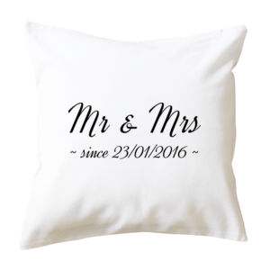 Mr & Mrs Anniversary - Cushion cover Thumbnail