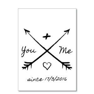 You And Me Since X/X/XXXX - Printable Thumbnail