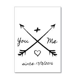 You And Me Since X/X/XXXX - A4 Print Thumbnail