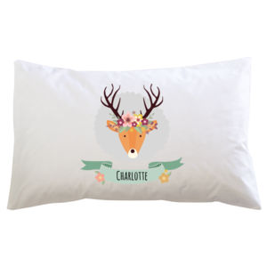 Stag with Flower Crown - Pillowcase  Thumbnail