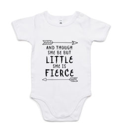 And Though She Be But Little She Is Fierce - Mini-Me One-Piece Thumbnail